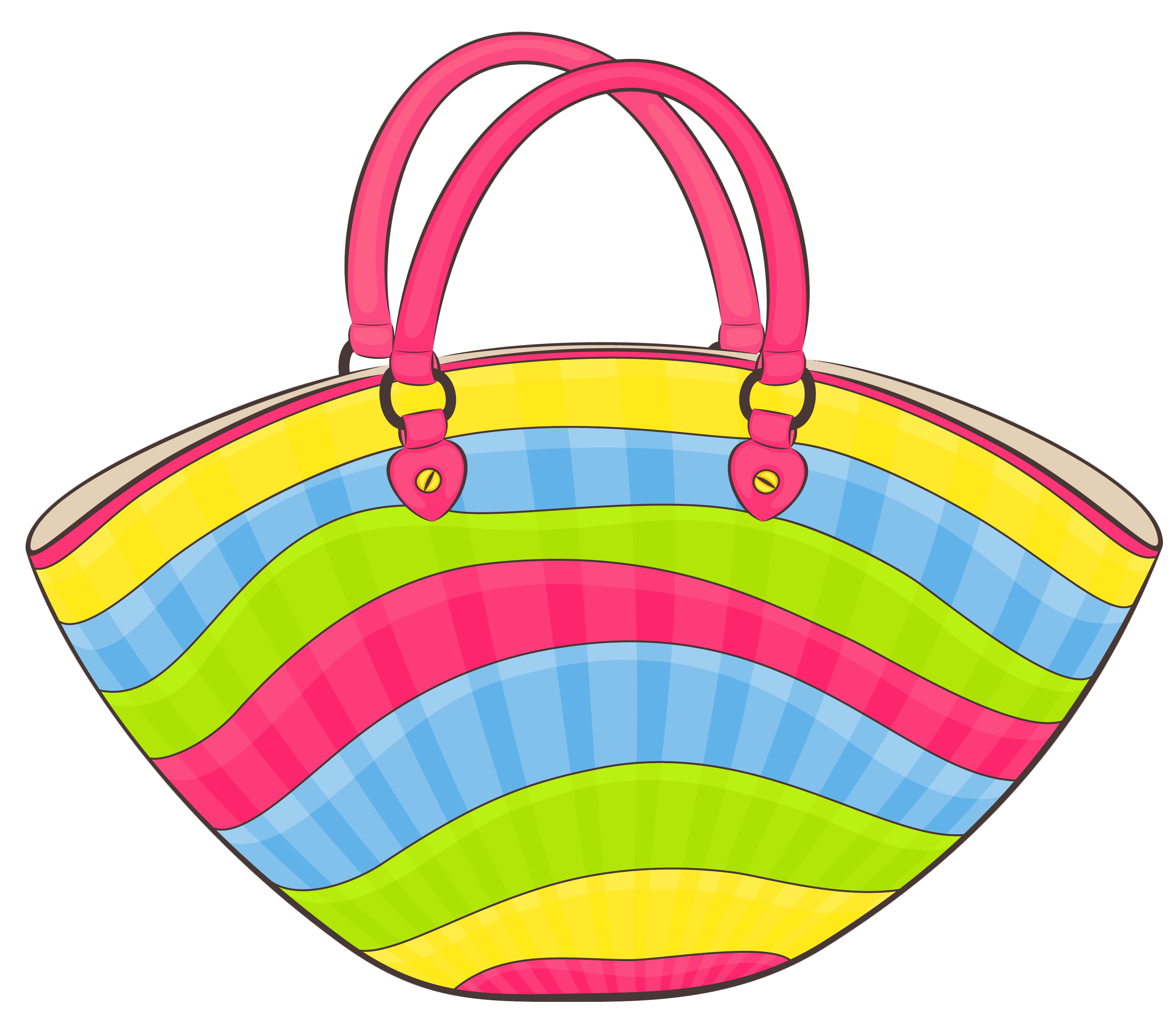 clip art Transparent beach bag png. Supermarket clipart cute store