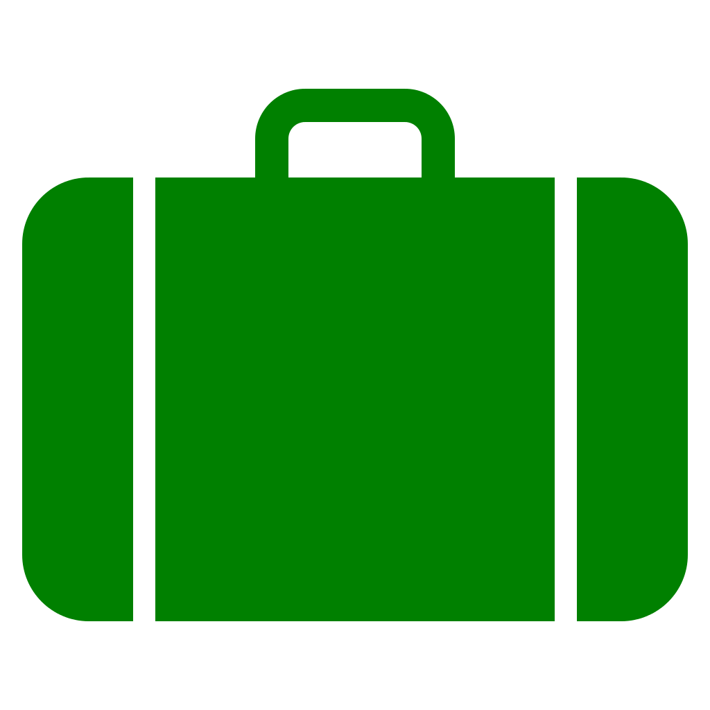 vector royalty free download File suitcase icon green. Luggage clipart svg