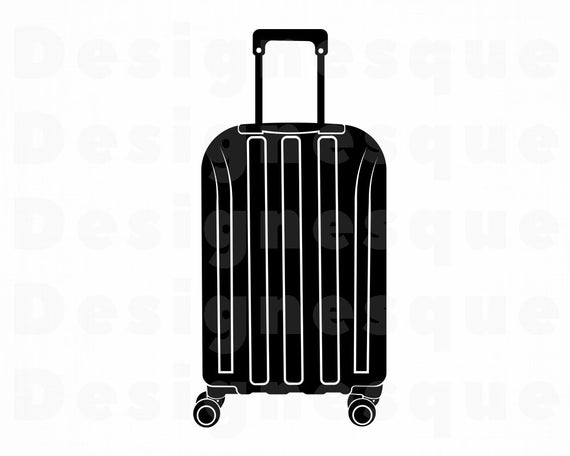 clip library library Suitcase vacation travel files. Luggage clipart svg