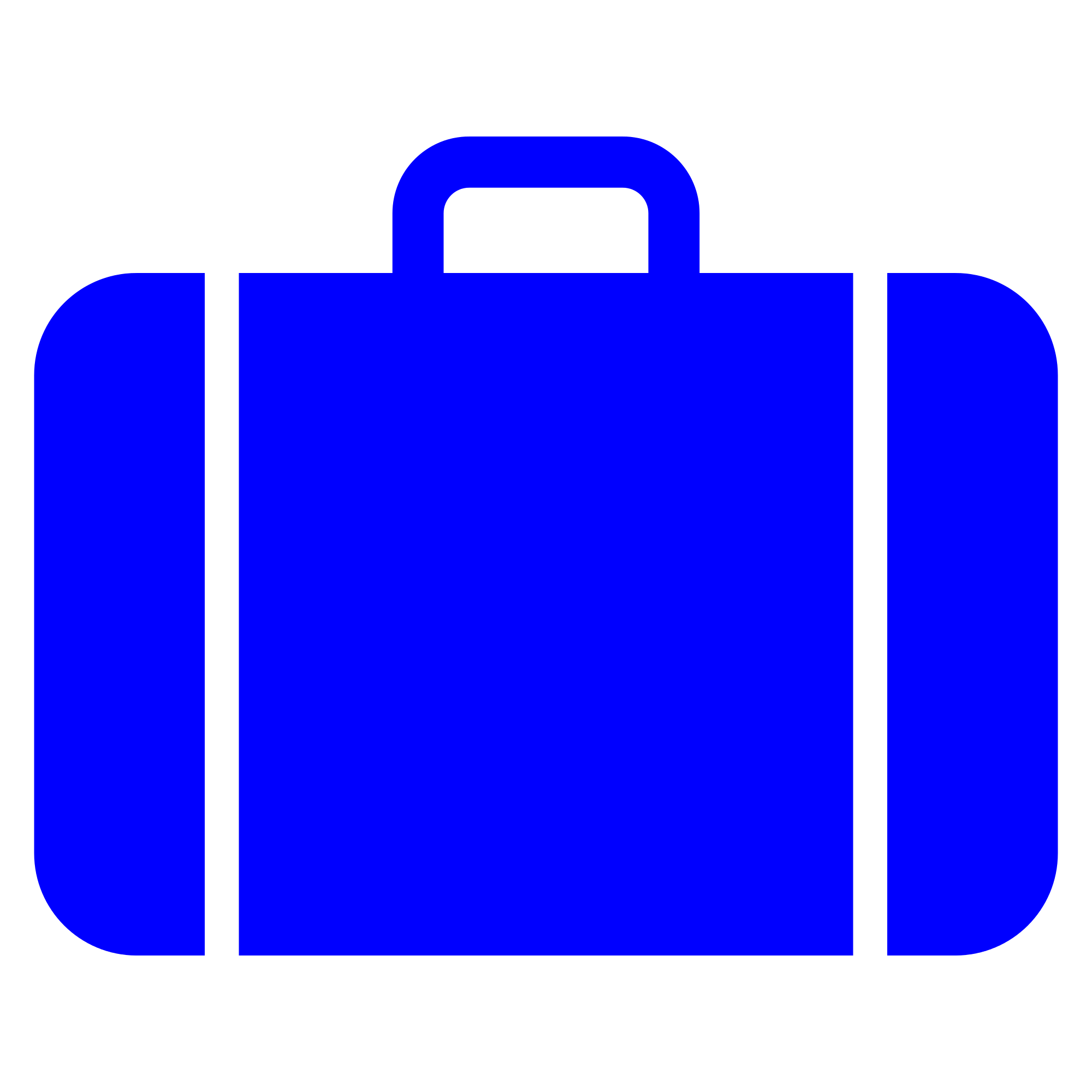 png freeuse File suitcase icon blue. Luggage clipart svg