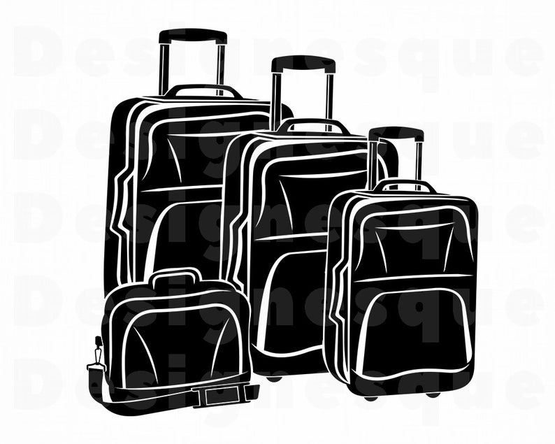 clip free stock Luggage clipart svg. Suitcase vacation travel files