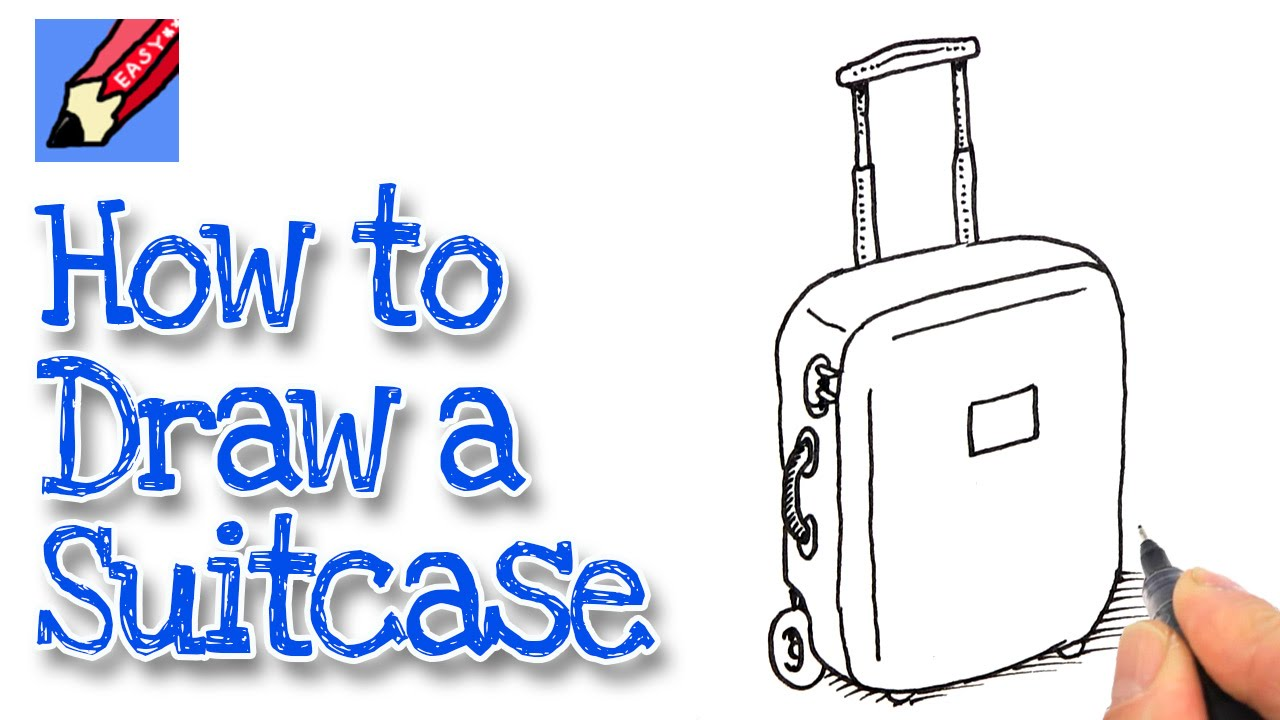clip freeuse download How to draw a. Luggage drawing