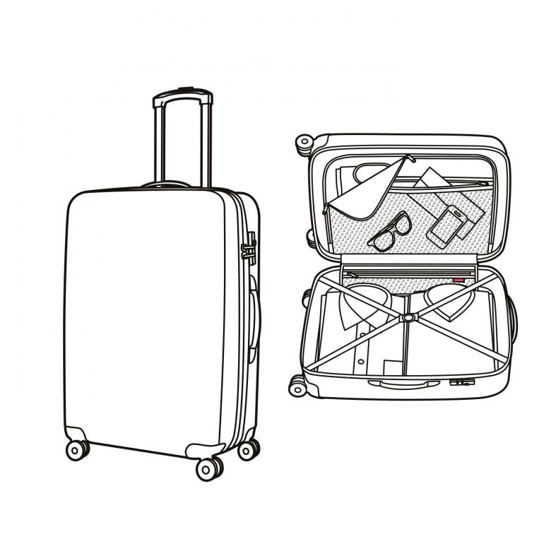 picture freeuse library Suitcase at paintingvalley com. Luggage drawing