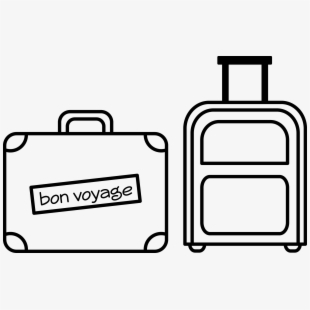 image freeuse library Luggage drawing. Clipart royalty free download