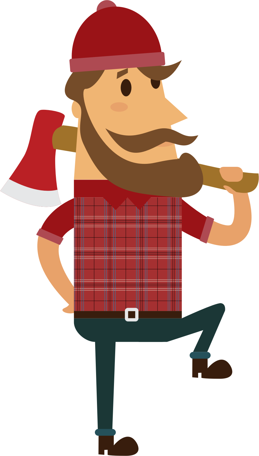 svg freeuse library Lumberjack clipart. Big image png.