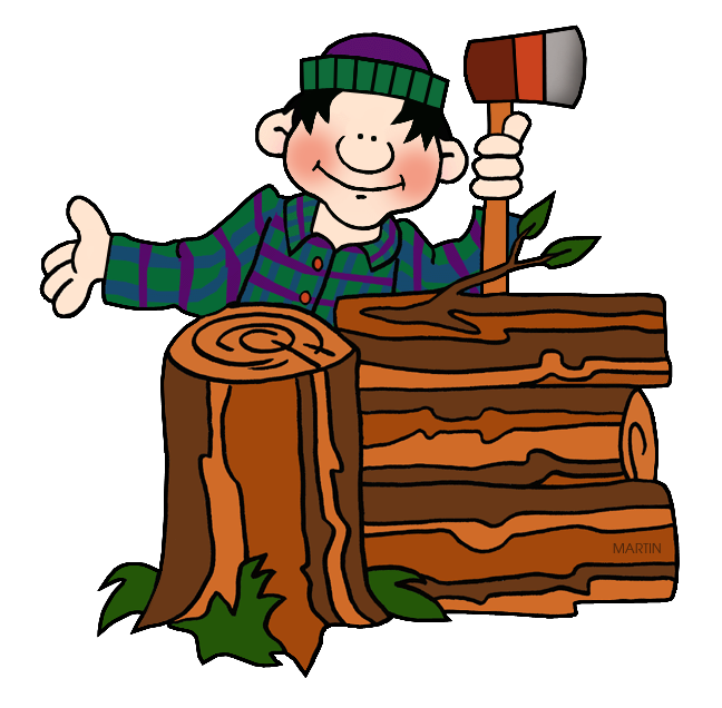 image black and white stock Lumberjack clipart. .