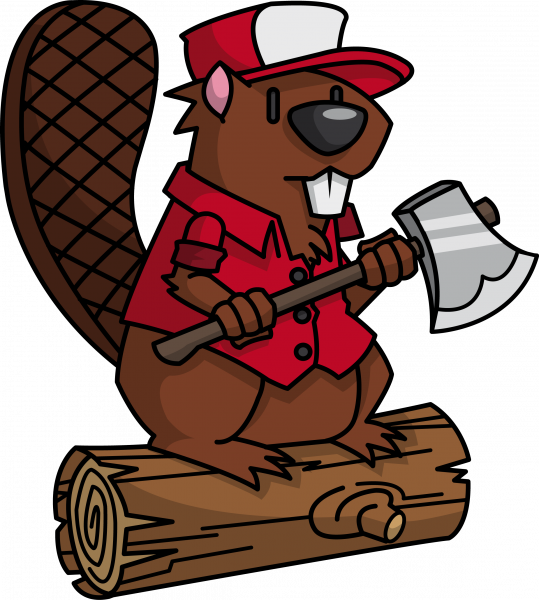 vector transparent library Lumberjack clipart. Beaver clip art sprout