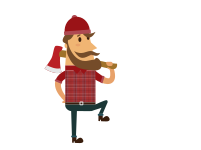 vector royalty free stock Onlinelabels clip art. Lumberjack clipart logger.