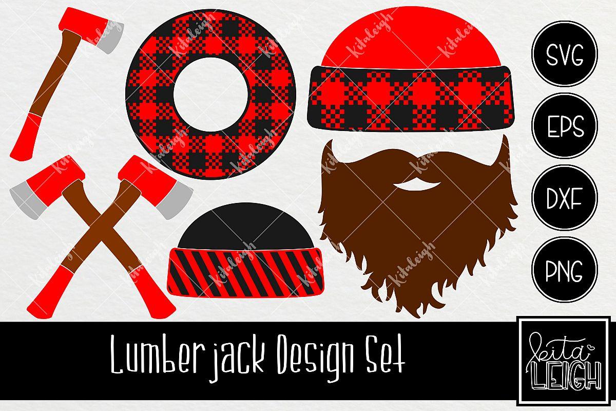 clipart royalty free stock Plaid design set . Lumberjack clipart svg.