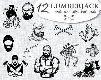 image stock Etsy . Lumberjack clipart svg.