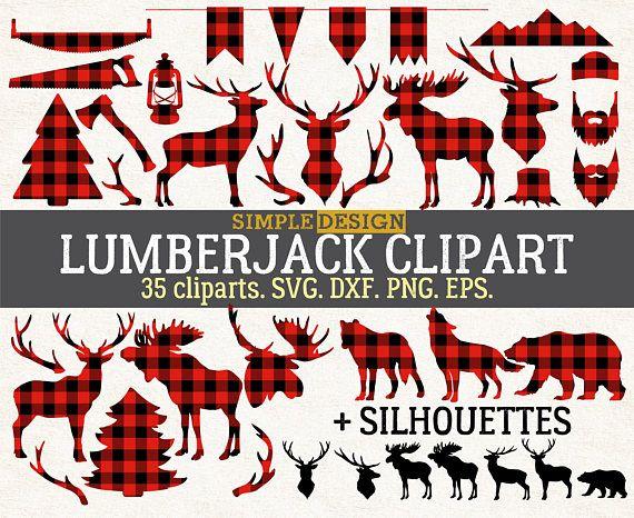 clip art free library Lumberjack clipart svg. Buffalo plaid .