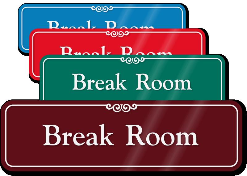 vector royalty free stock Lunch clipart door sign. Room signs break zoom.