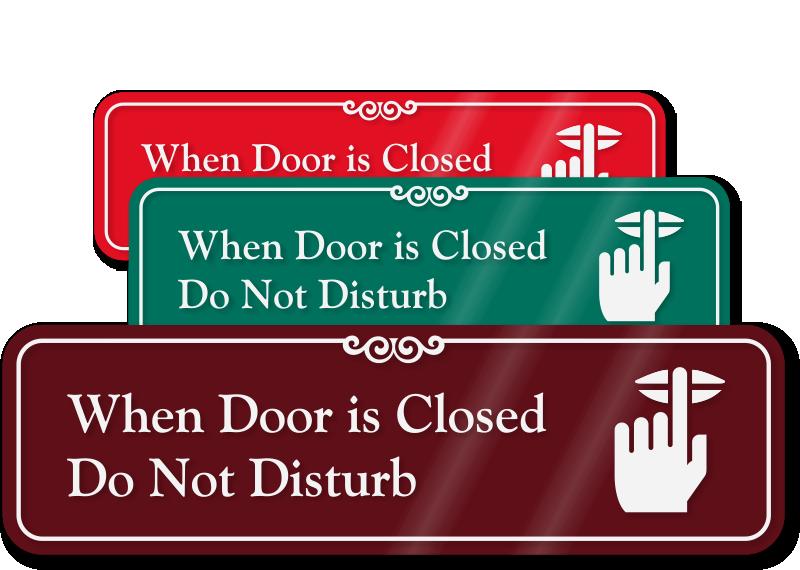 banner transparent Do not disturb signs. Lunch clipart door sign.