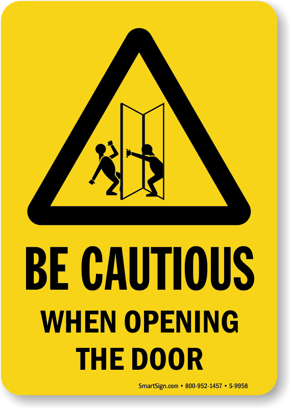 clip art stock Lunch clipart door sign. Approach slowly signs open.