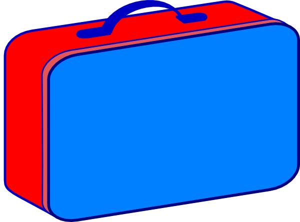 svg royalty free library Red and blue clip. Lunchbox clipart.