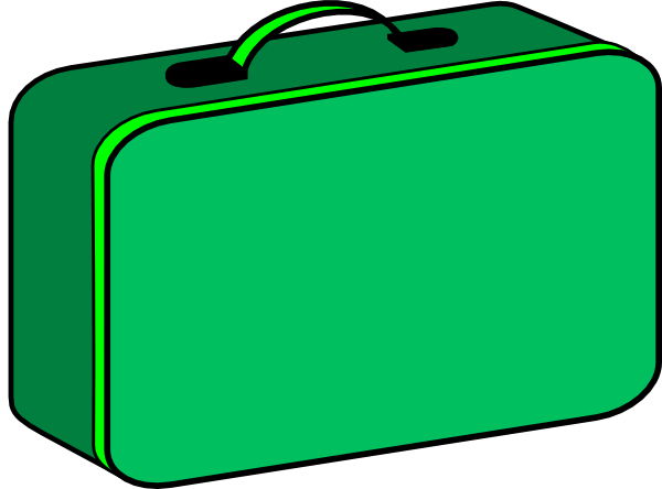 clipart black and white Lunchbox clipart. Green clip art at.