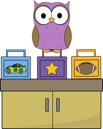 svg royalty free Lunchbox clipart class monitor. Owl lunch box school.