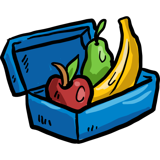 graphic library download Lunchbox clipart healthy food. Fruit container diet lunch.