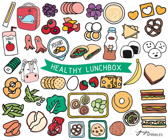 banner royalty free stock Lunchbox clipart healthy food. Lunch kids illustrations sandwich.
