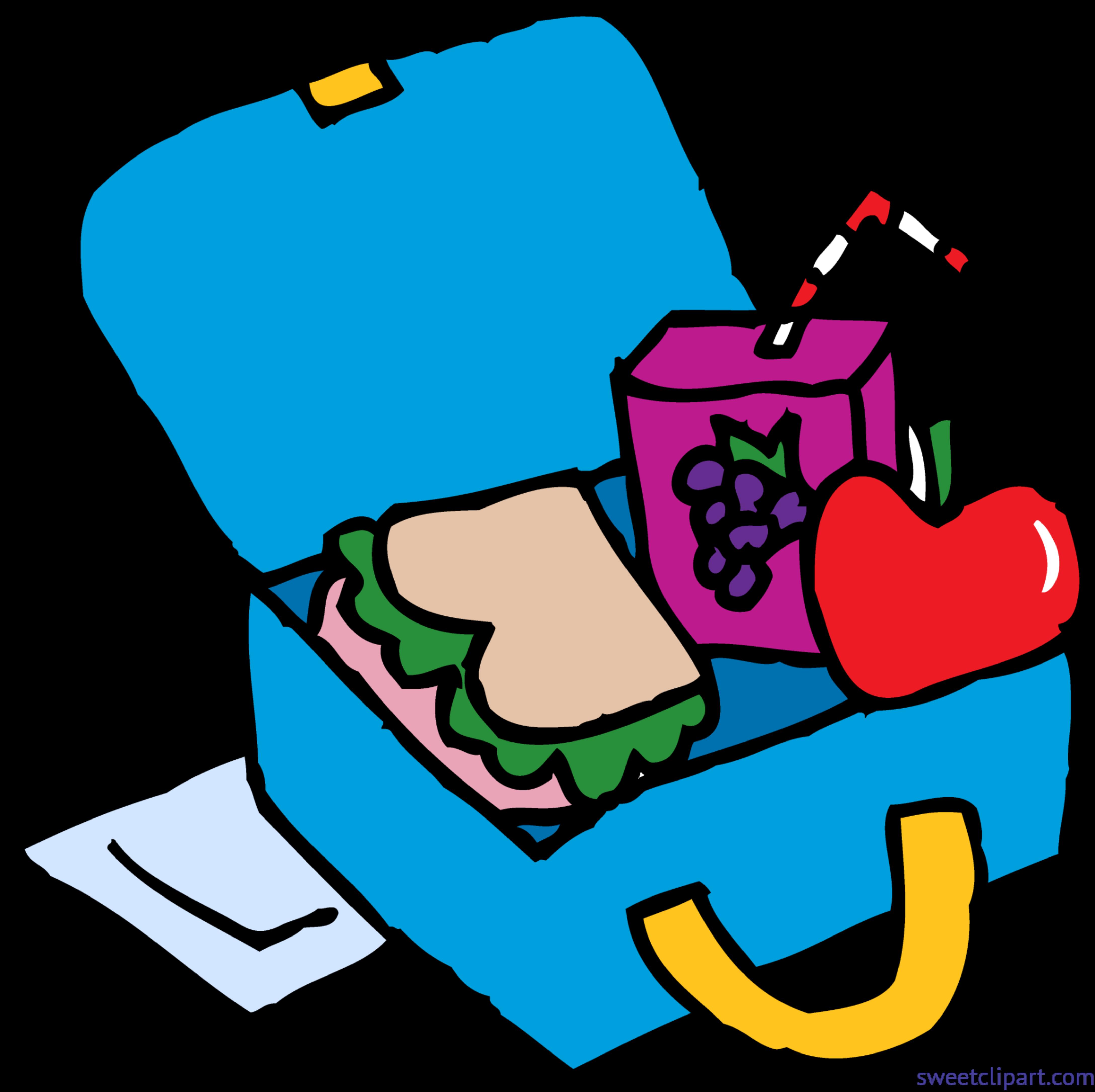 banner transparent Lunchbox clipart. School lunch box clip.
