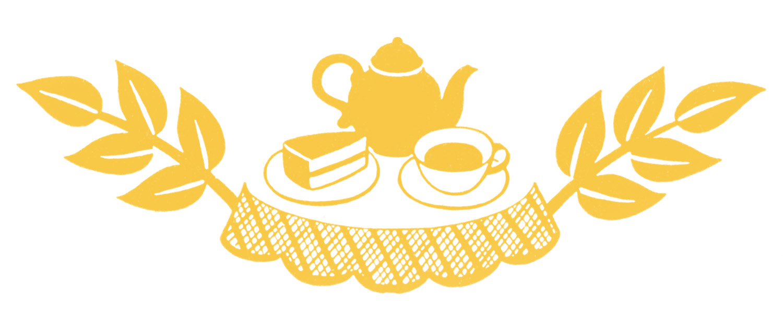 banner royalty free stock Retro clip art tea. Brunch clipart silhouette