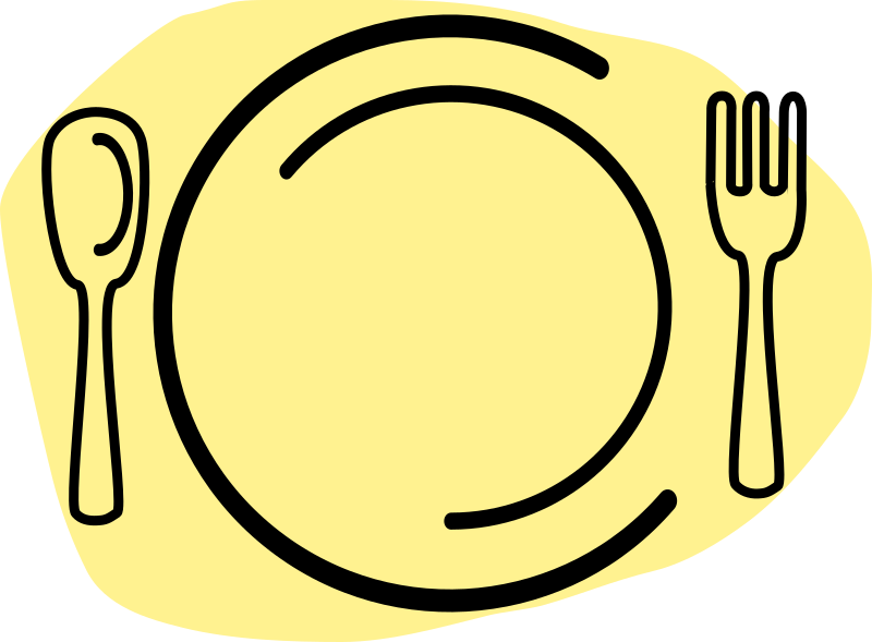 freeuse library Dinner Plate Clipart luncheon