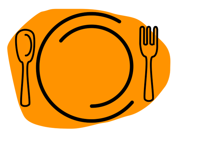 clipart transparent download Luncheon clipart lunch meal. Dinner plate free on