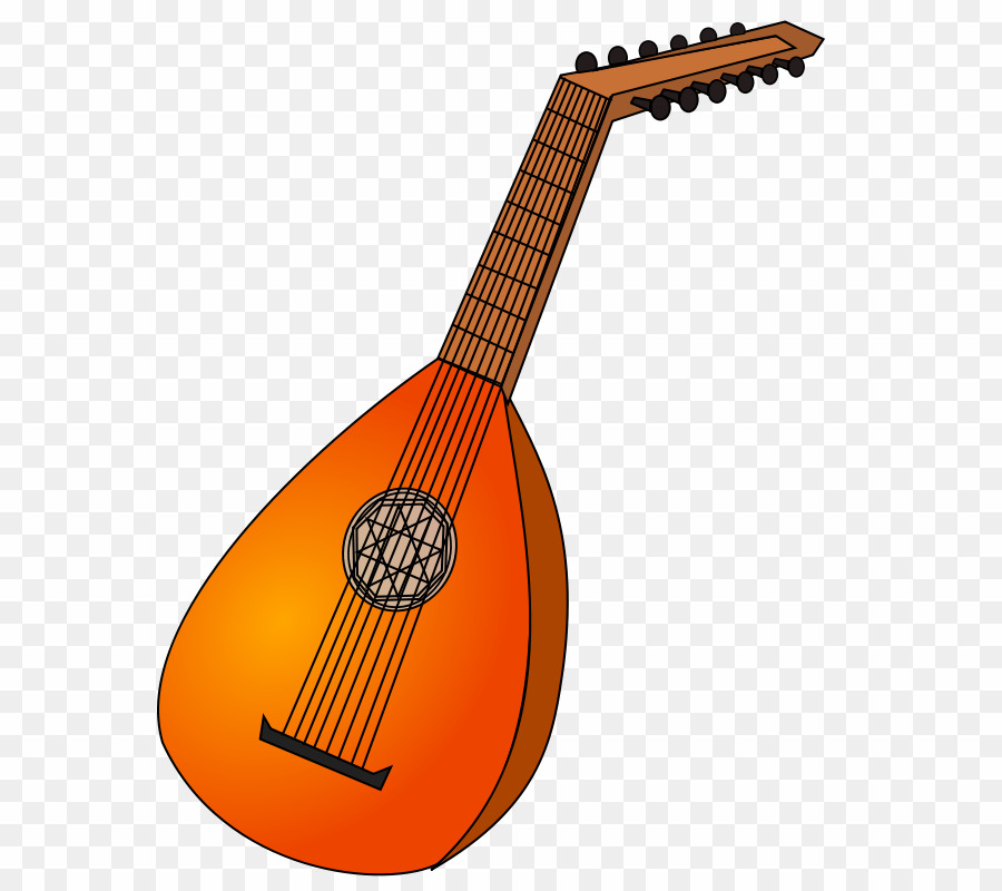 clip art transparent stock Lute drawing. Png clipart download free.