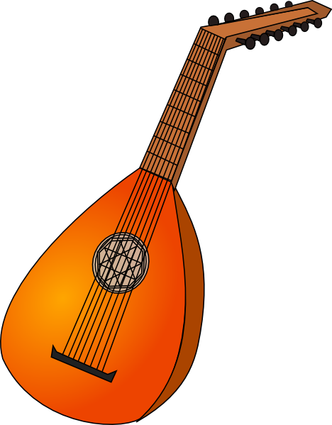 svg download Clip art at clker. Lute drawing.