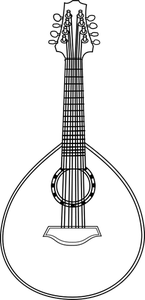clipart free library Publicdomainvectors org coloring page. Lute drawing.