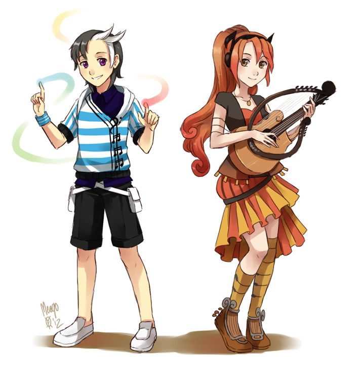 royalty free Lute drawing anime. And harper by meago.