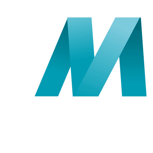 vector free download M letter origami isotype