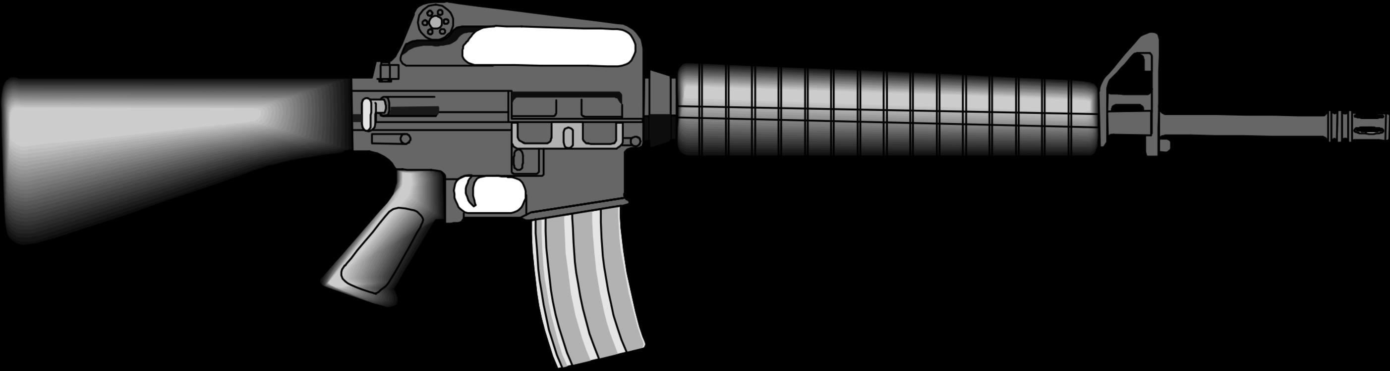 clipart royalty free Vector carbine transparent. M rifle weapon firearm