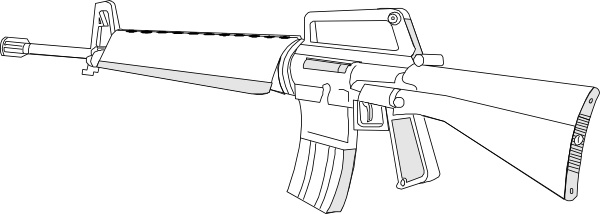 png royalty free m16 vector weapon #146896528