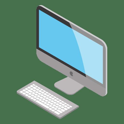 clip art library download Isometric mac png svg. Vector computer transparent