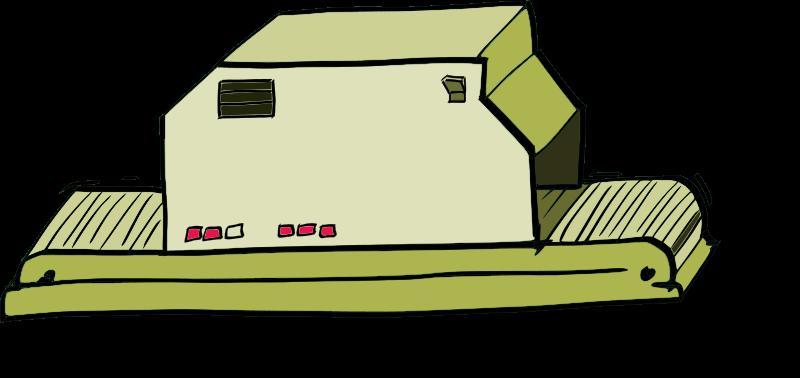 banner transparent stock Machine clipart. Comic style medium image