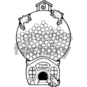vector library library Gumball clips bw royalty. Machine clipart school.