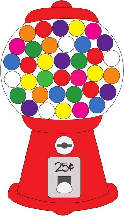 png free Gumball candy alphabet . Machine clipart school.