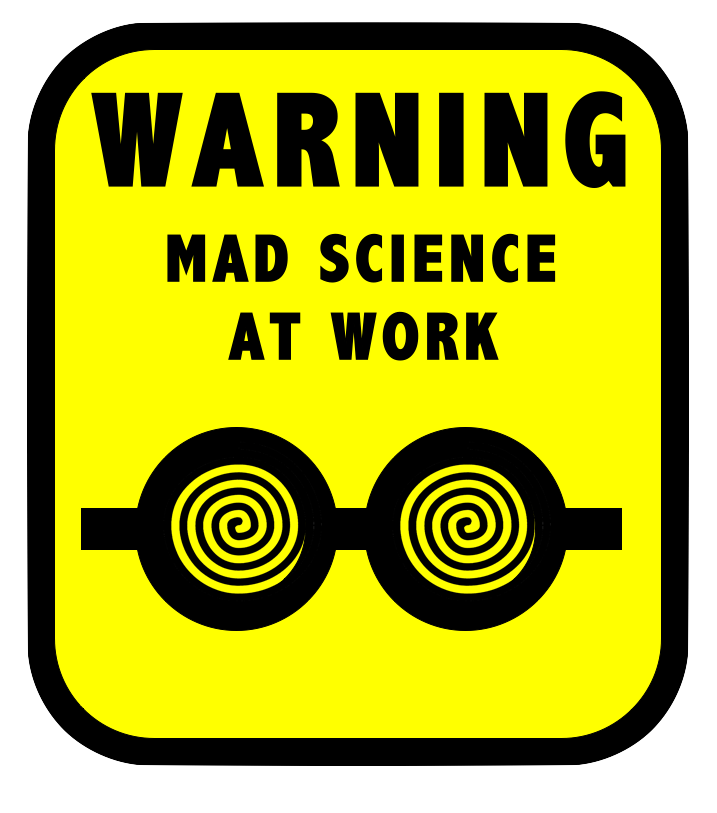 banner royalty free library Mad science by thescifiartisan. Writer clipart work sign.