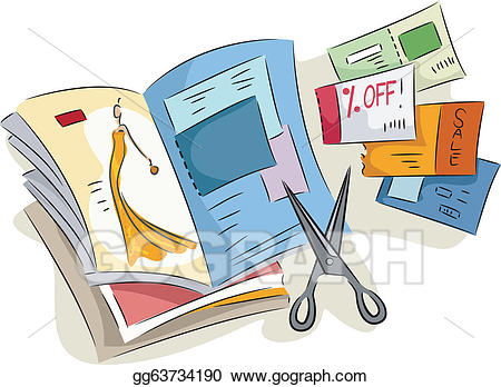 vector freeuse download Eps illustration coupons vector. Magazine clipart.