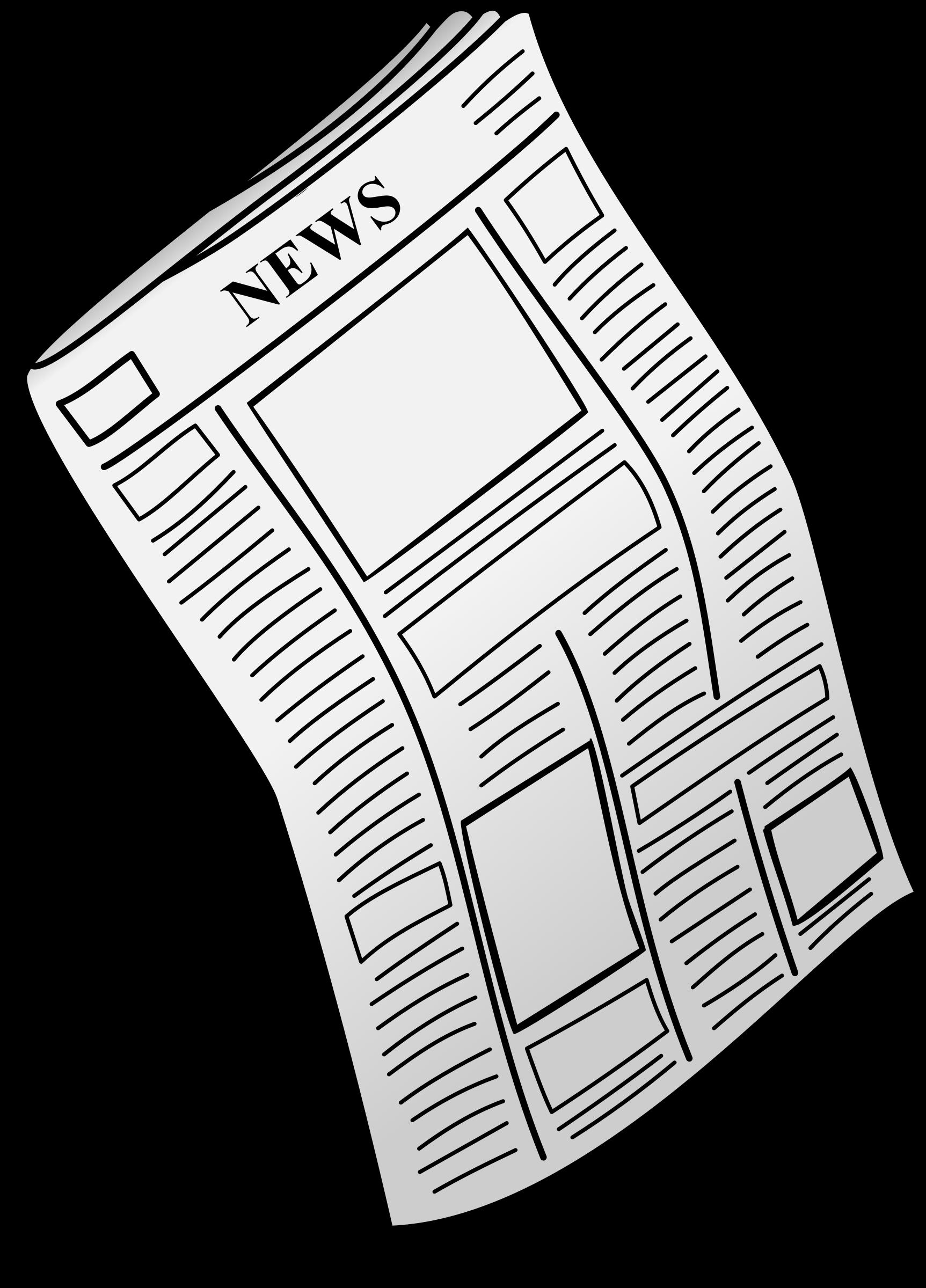 jpg black and white Newspaper Clipart