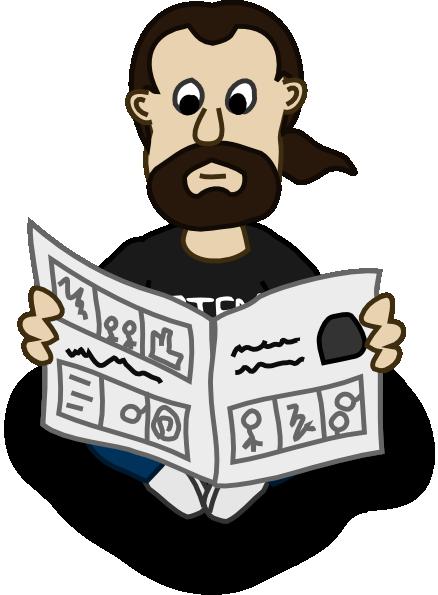 clip art library download News clipart newspaper reader