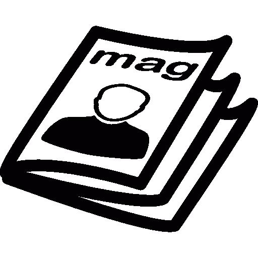 clip black and white library vector magazine icon #118236373