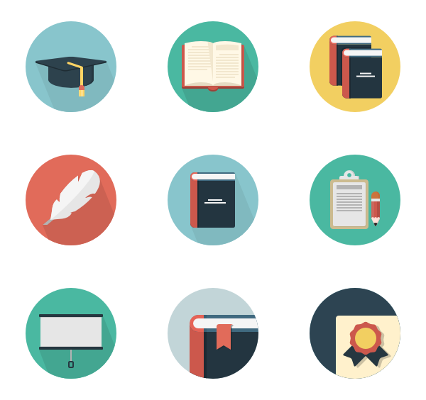 png freeuse download Book icons free education. Vector books flat
