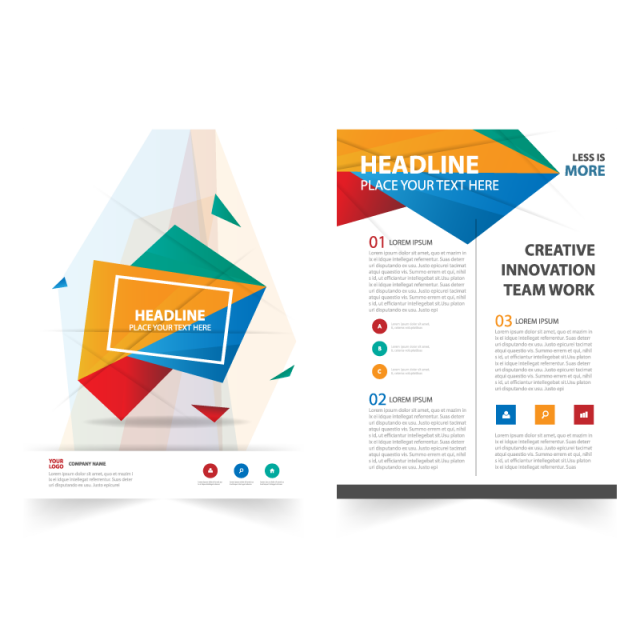 picture download Vector color brochure. Abstract report template for