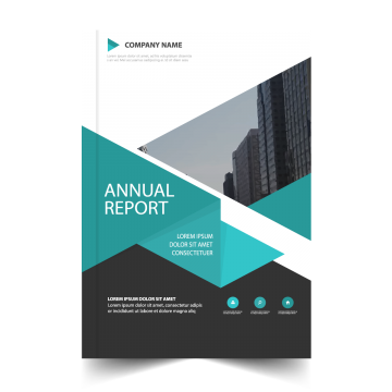 clipart library Annual report cover png. Vector color brochure