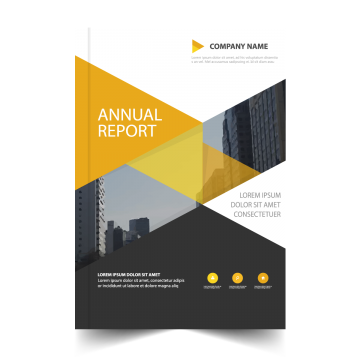 banner royalty free library Annual Report Cover Png