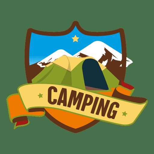 image stock Vector emblem retro design element. Shield camping badge transparent