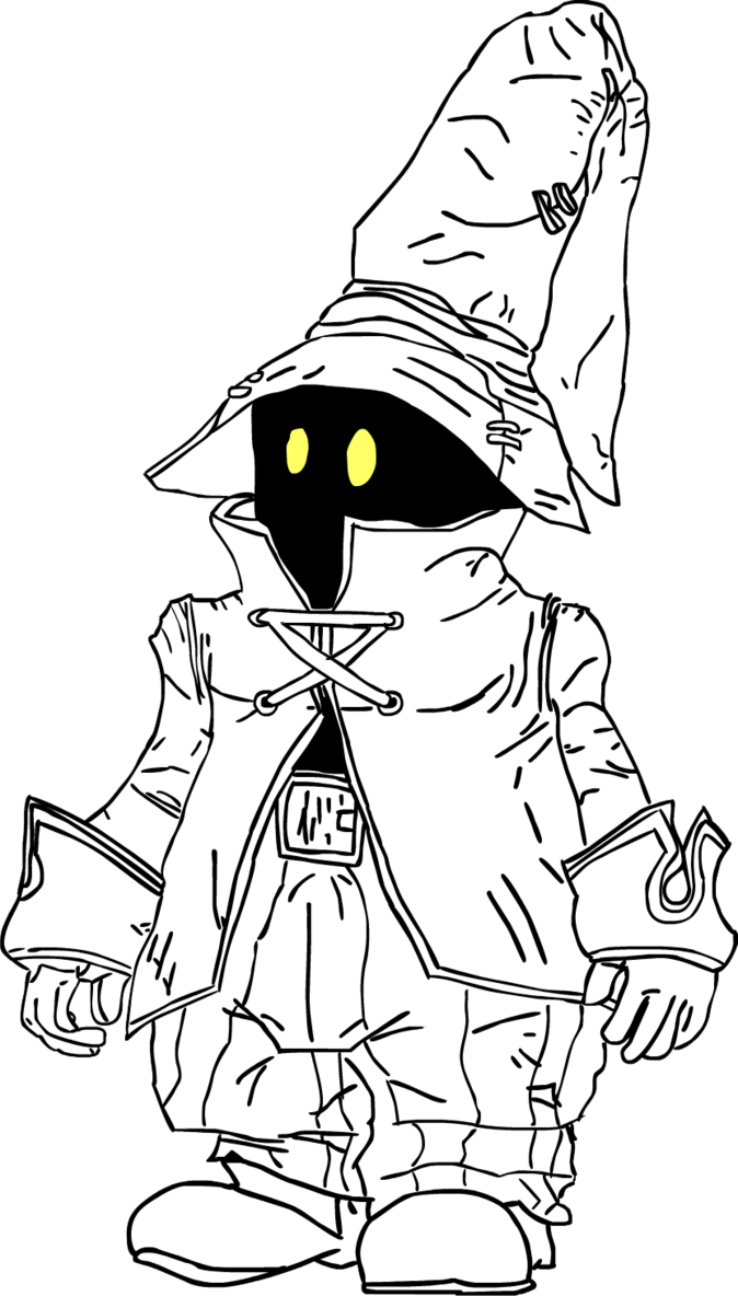 vector Vivi the by marxallyhd. Mage drawing black