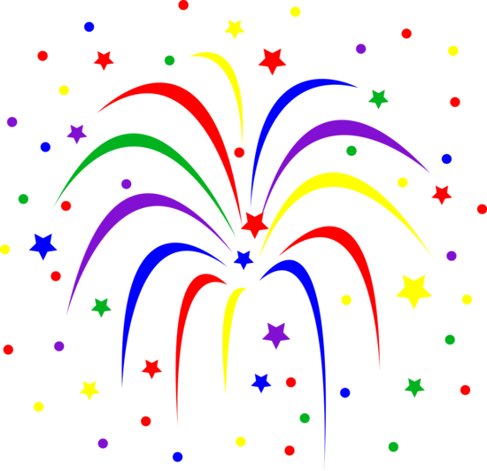 clipart black and white library Fireworks clip art animations. Magic clipart celebration.
